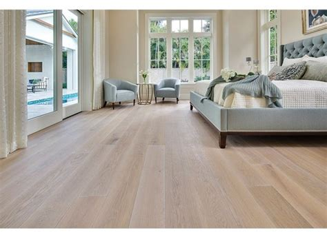 French White Oak Light Brushed, White Oiled, with a