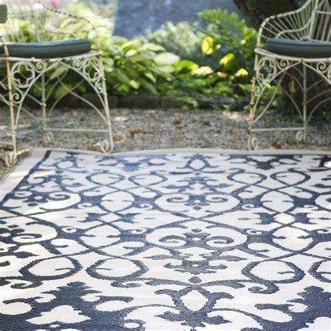 180x270 outdoor plastic rug venice black waterproof