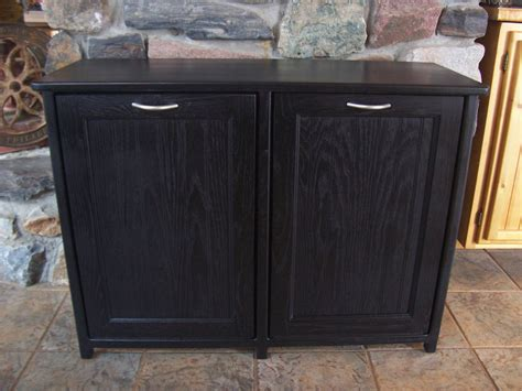 double trash recycling bin cabinet wood new black painted wood double trash bin cabinet garbage