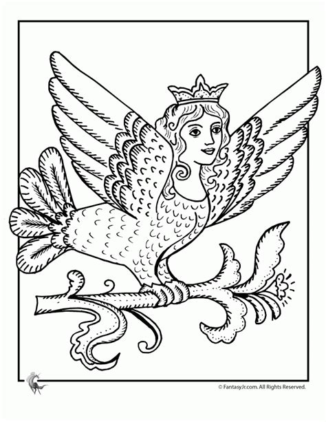 Mermaid Princess Fairy Coloring Page Coloring Home