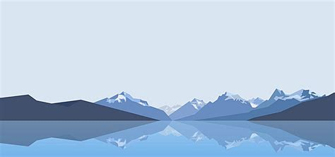 blue mountains  flat design background classical