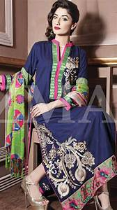 Designer Dupattas In Delhi Navy Blue Linen Salwar Kameez Dress 99 99 Designer Winter