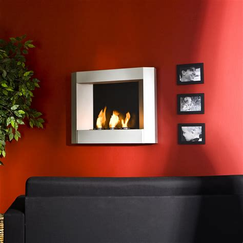 Kamin Wand by Sei Contemporary Wall Mount Gel Fuel Fireplace
