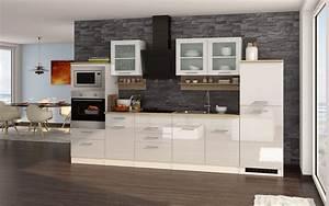 Küchenzeile Hochglanz Weiß : k chenzeile hochglanz weiss k chenblock einbauk che mit elektroger ten 330 cm ebay ~ Orissabook.com Haus und Dekorationen
