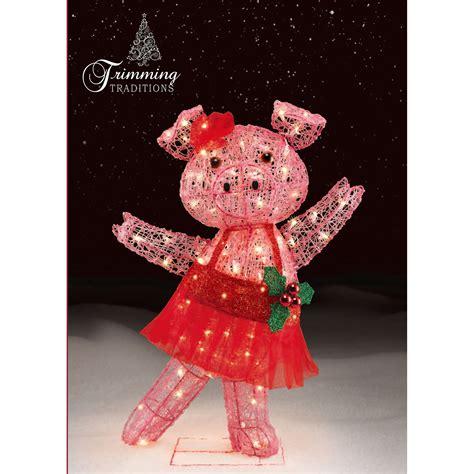 light  christmas dancing pig barnyard festive fun