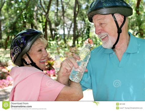 Seniors Fitness & Fun Stock Image. Image Of Couple