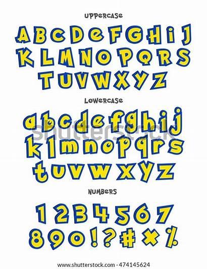 Pokemon Alphabet Cartoon Phrases Numbers