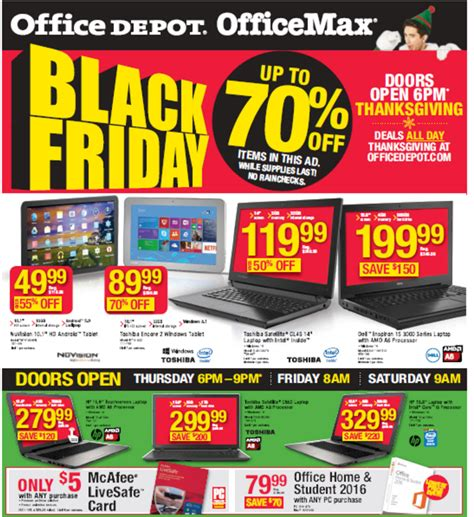 Office Depot Hours Black Friday by Office Depot Black Friday 2015 Deals Office Max Black