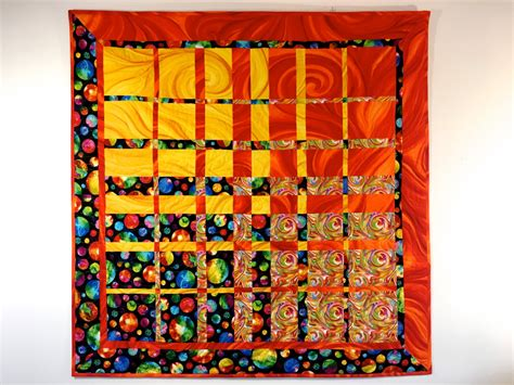 Modern Art Quilt Textile Art Quilted Fabric Wall Hanging