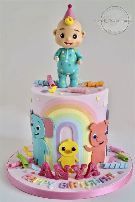 2560 x 1920 jpeg 400 кб. Celebrate with Cake!: Cocomelon with Animals single tier Cake