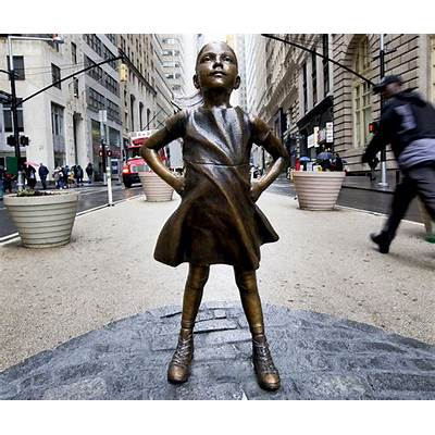 New 'Fearless Girl' Statue Stares Down Wall Street's