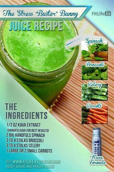 recipes celery juice smoothie juicing recipe stress benefits health ingredients spinach diet juicers kale smoothies relief juices carrots