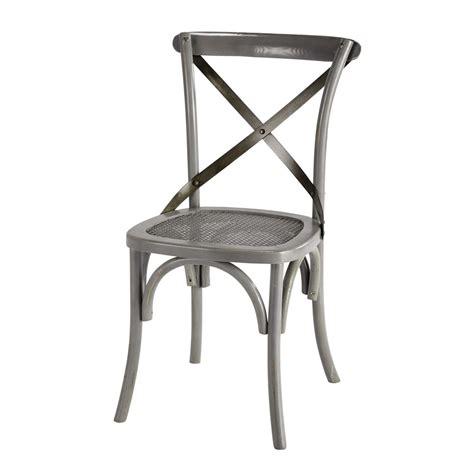 chaise rotin maison du monde chaise en rotin et métal grise tradition maisons du monde