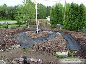 Membrane geotextile installer une toile de paillage au for Amenagement jardin avec gravier 7 membrane geotextile installer une toile de paillage au