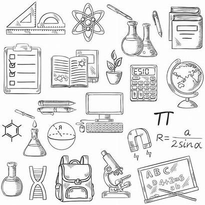 Coloring Supplies Pages Printable Symbols Adults