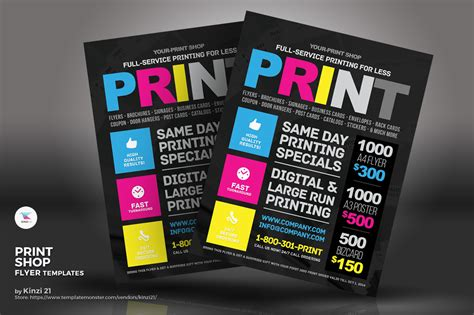 print shop flyer corporate identity template