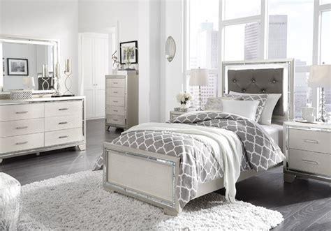lonnix silver twin upholstered bedroom set cincinnati