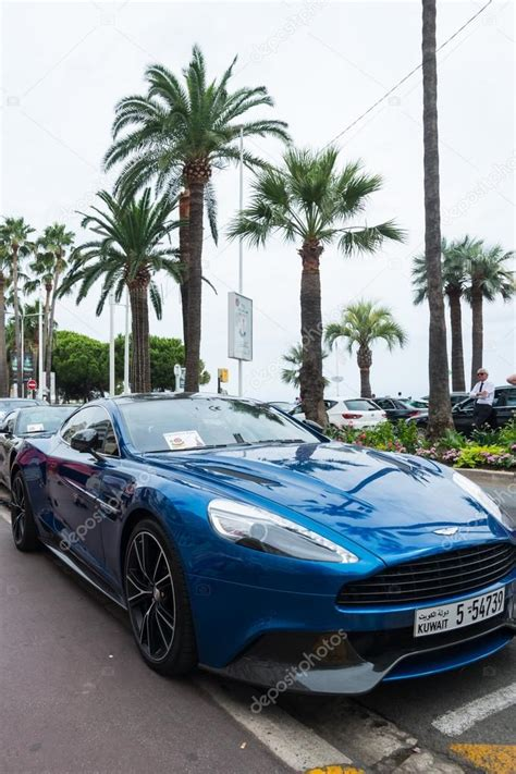 Luxury Cars On The Street In Cannes,france Stock
