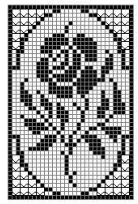 filet crochet crochet rose filet chart