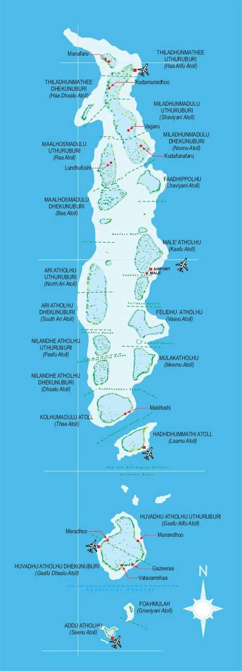 Maldives Atolls Maps List
