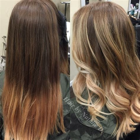 Balayage Highlights Dark Hair Before And After