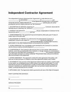 independent contractor agreement template sample With 1099 contractor agreement template