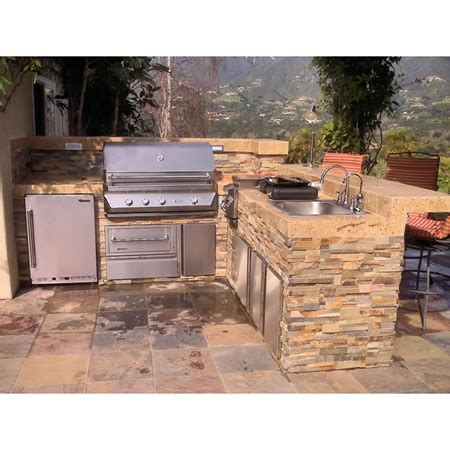 Outdoor L by Signature Living L Shaped Custom Outdoor Kitchen L 03