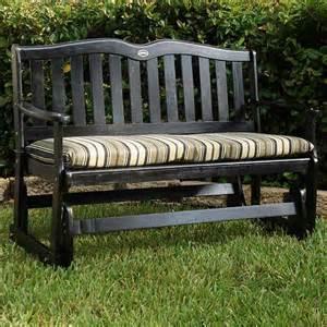 Garden Glider Bench by Jordan Mfg Co Black Palms 4ft Outdoor Glider Swings
