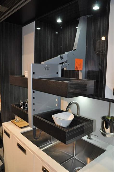pull up kitchen cabinets descending shelf just pull it to grab some dishes 4442