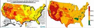 Us Geothermal Resources Map And Their Thermal Gradient