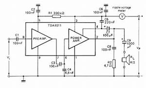 electronic circuit amplifier tda1011 picture of good With surface mount device components when i designed the circuit board