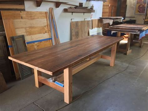 Rough Sawn douglas fir craftsman style dining table