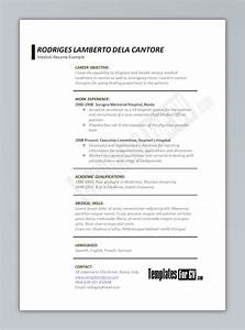 template for cv medical printriverc With medical resume template free