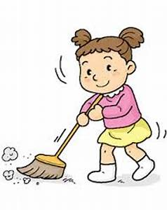 Cartoon sweeping the floor child clipart 3 classy ...