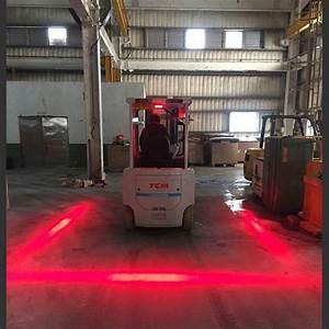 Self Introduction Email Red Zone Danger Area Warning Light Warehouse Forklift
