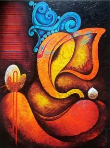Rare Thoughts Art Gallery Lord Ganesha Acrylic Painting ...