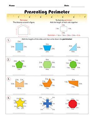 presenting perimeter worksheet education com