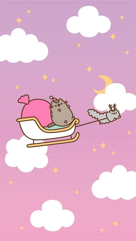 christmas pusheen android  iphone wallpapers