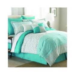 details about green comforter set queen king bed mint