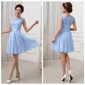 fashion women lace short dress prom evening party cocktail With short evening dresses for weddings