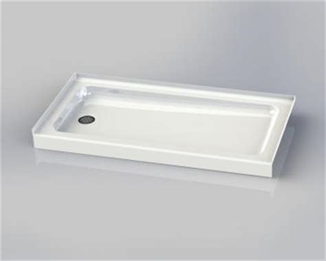 pin prefabricated shower pan with integrally molded curb