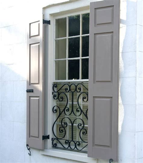 shutters protective iron grille window bars raised panel shutters shutters