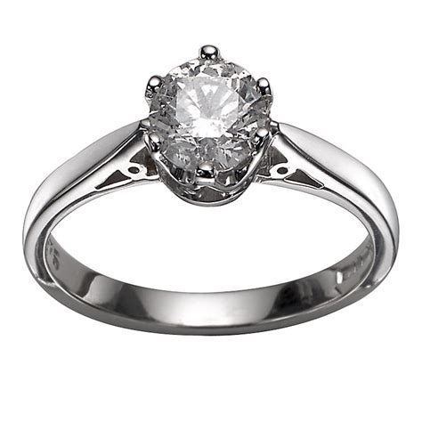 18ct white gold 3 4 carat diamond solitaire ring h samuel