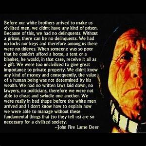 John Fire Lame Deer quote | Quotes that I love | Pinterest