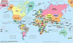 Political Map of the World. A political map is a map that ...