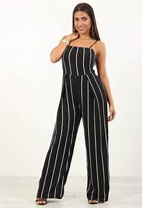 Combinaison Femme Noir Et Blanc : combinaison pantalon rayures dos nu noir ~ Melissatoandfro.com Idées de Décoration