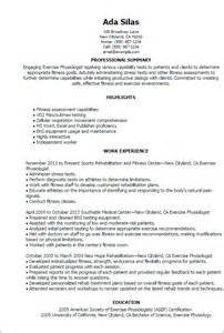Parlour Resume Format by Professional Exercise Physiologist Templates To Showcase Your Talent Myperfectresume