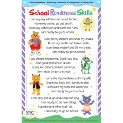 my nephew s readiness for preschool the obstacle 810 | preschool readiness skills poster 500x500
