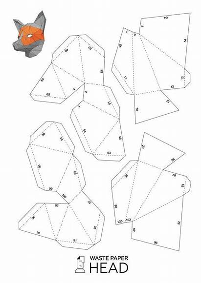 Mask Template Paper Fox 3d Printable Papercraft