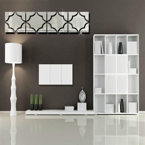 5x(4 Stuecke Set Selbstklebende Spiegel Fliesen 3d